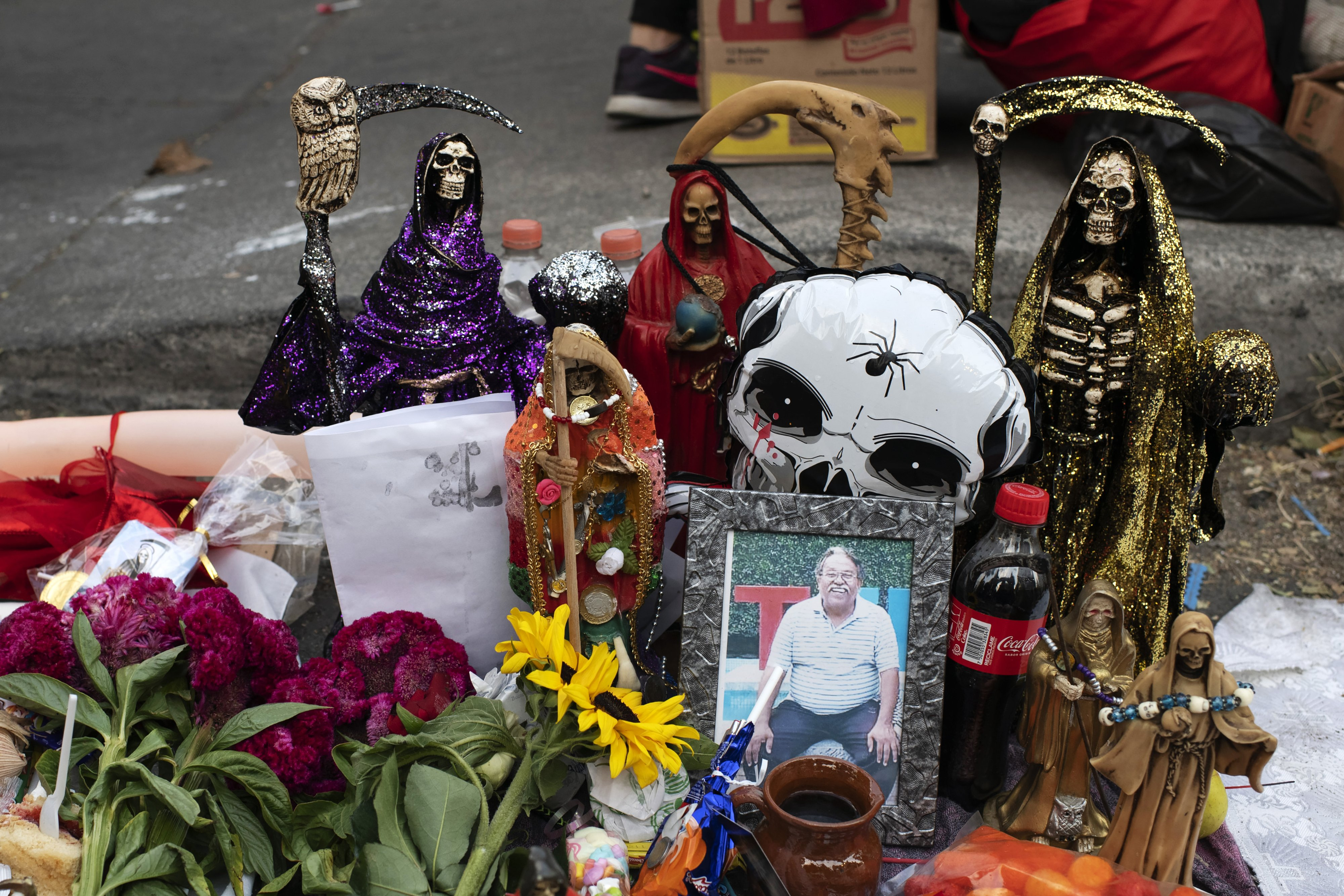 An altar to the Santa Muerte by Erika Nava Morales in the neighbourhood of Tepito