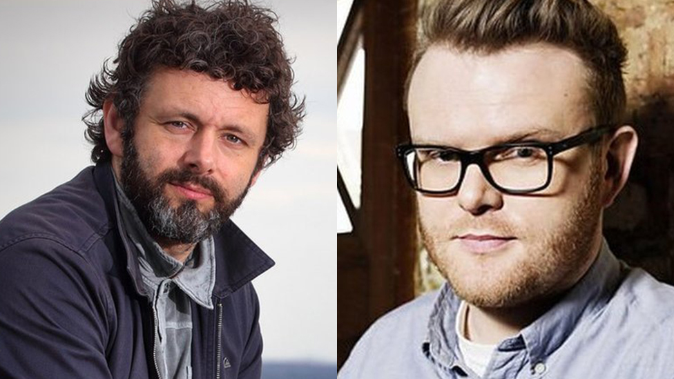 L-R: Michael Sheen and Huw Stephens