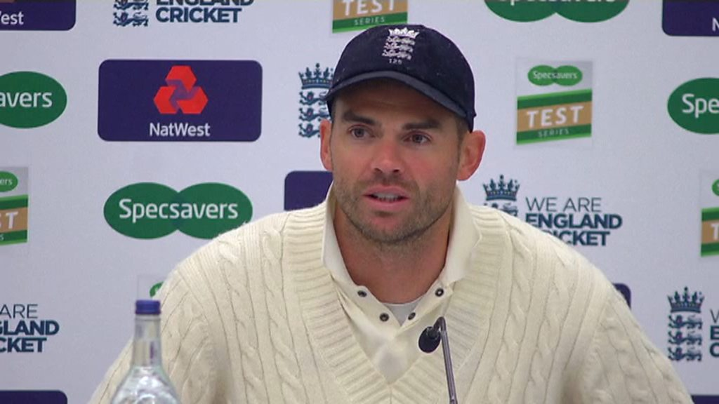 England bowler James Anderson pays tribute to former England captain Alastair Cook