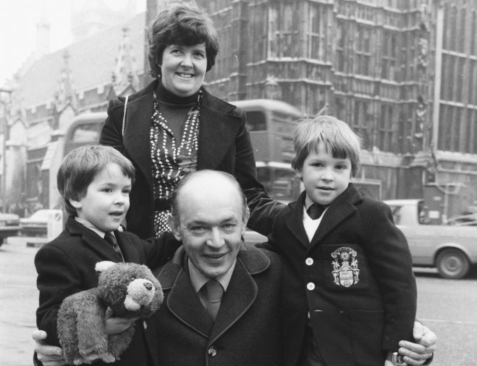Sir Teddy Taylor and family