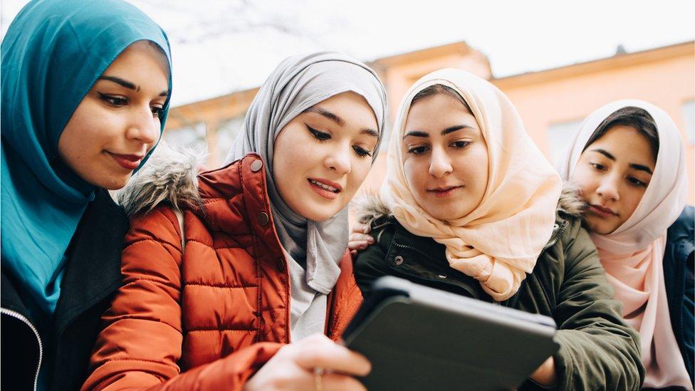 Jóvenes musulmanas
