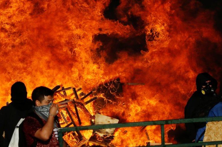 Un incendio en Santiago