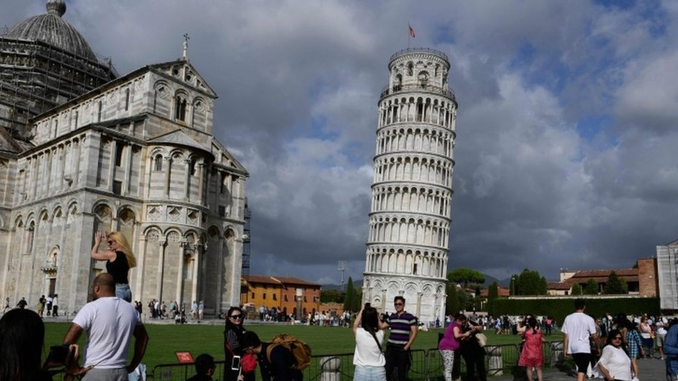 Leaning Tower of Pisa 'now leaning less'