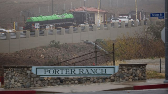 """Sign that reads """"Porter Ranch"""""""