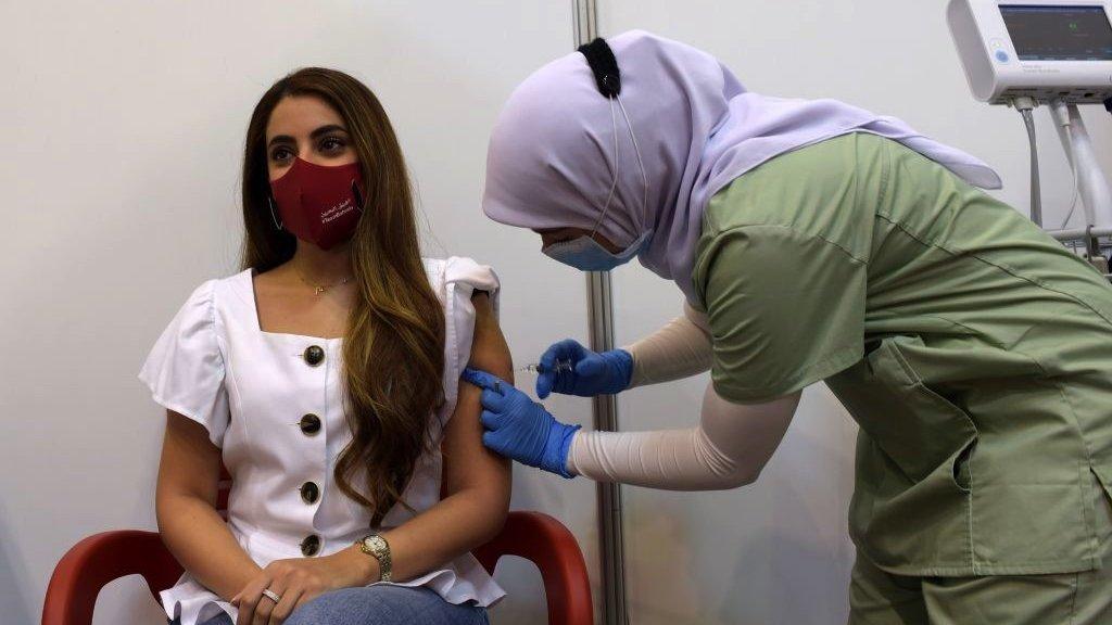 خلال حملة التلقيح في البحرين