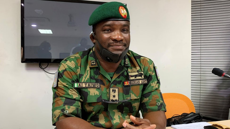 Brig Gen Ahmed Taiwo attends judiciary panel in Lagos on 14 November 2020