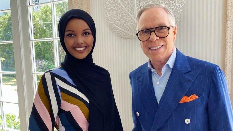 Halima Aden and Tommy Hilfiger