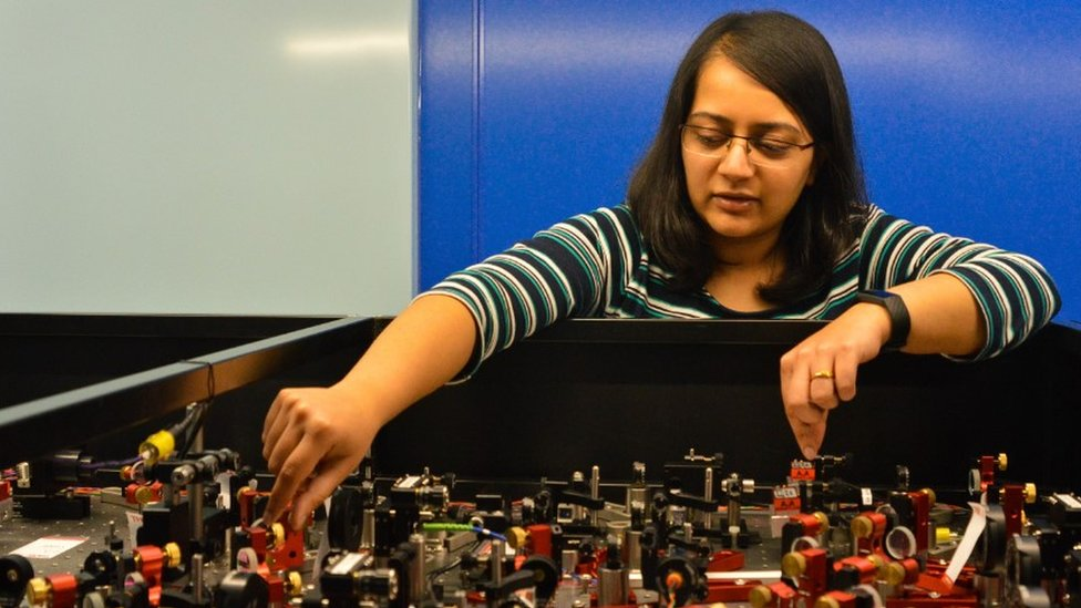Dr Amruta Gadge with some of the kit she was able to control from home