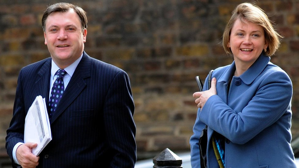 Ed Balls, who was an MP until 2015, and Yvette Cooper when they were both in cabinet in 2010