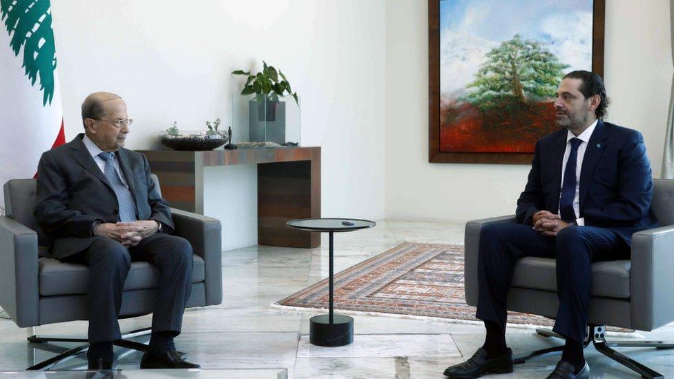 الحريري اعتذر عن تشكيل الحكومة بعد لقاء قصير مع عون