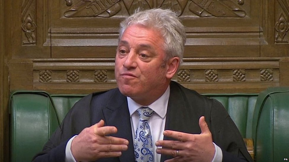 John Bercow explains his selection of Brexit motions in the Commons