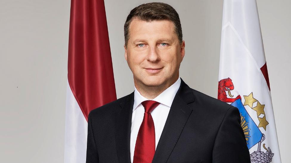 Latvian President Raimonds Vejonis