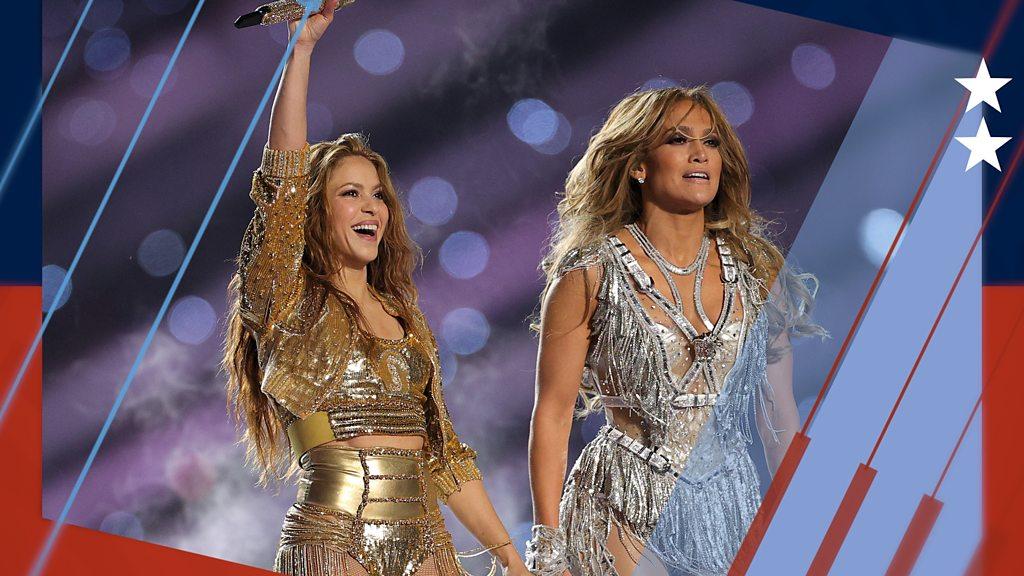 BBC Sport - Super Bowl 2020: Shakira & J-Lo light up half-time show in Miami