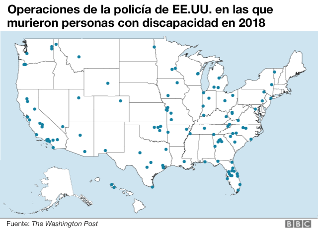 Mapa de operaciones de la policía de EE.UU.