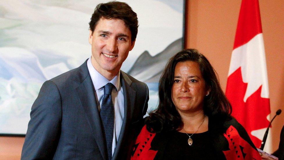 Jody Wilson-Raybould y Justin Trudeau.
