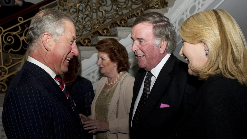 Sir Terry meeting the Prince of Wales in 2010