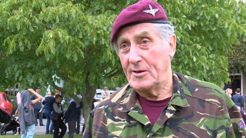 Veteran completes walking challenge taking on RAF stations