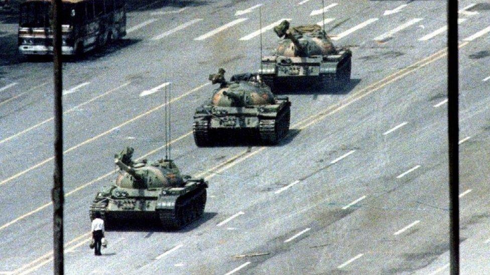 """El """"hombre del tanque"""" en Pekín"""