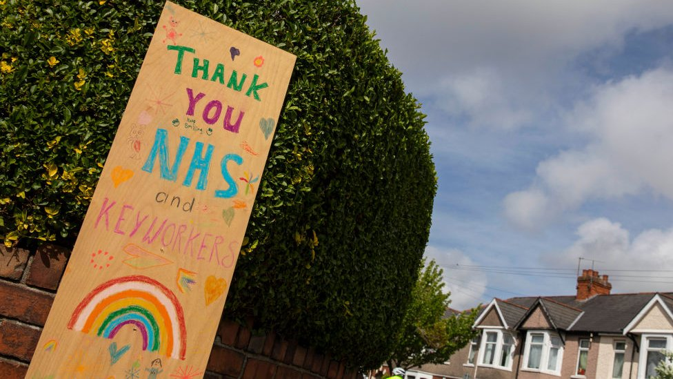 Thank You NHS sign in Cardiff