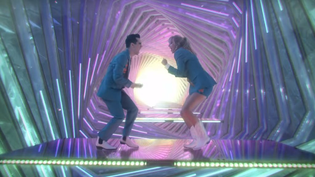 Taylor Swift and Brandon Urie in the ME! video