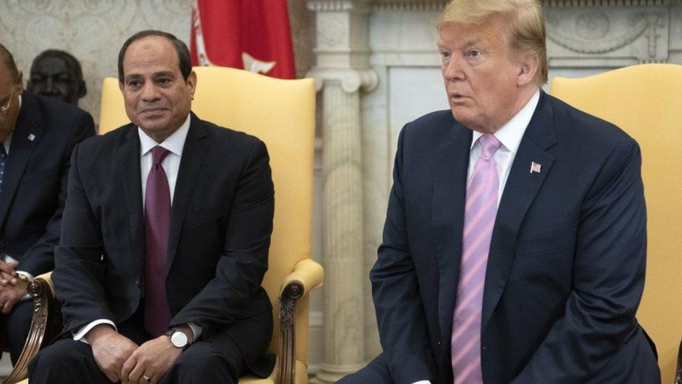 الرئيس الأمريكي ونظيره المصري في البيت الأبيض