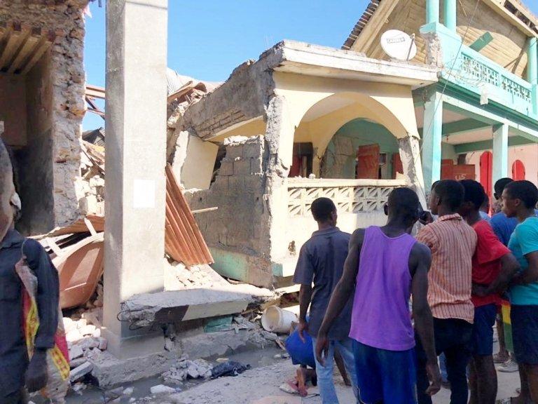 Edificio derrumbado en Jérémie, Haití.