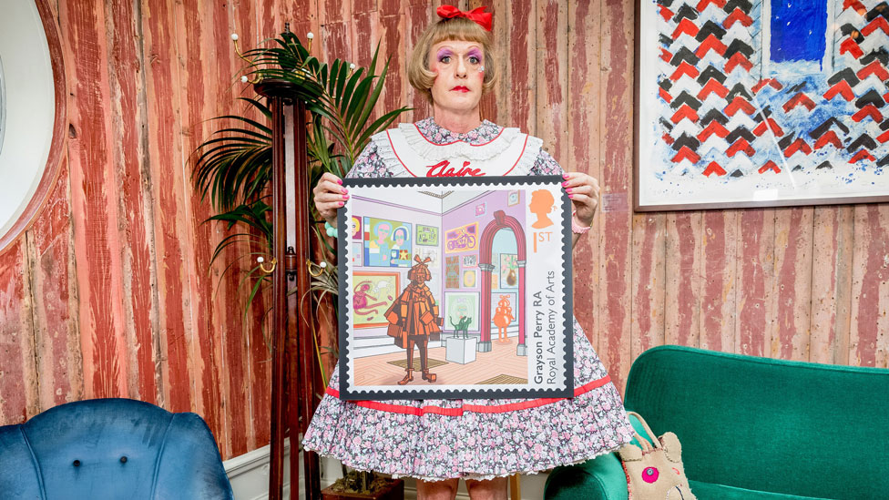 Grayson Perry designs stamp for Royal Academy anniversary