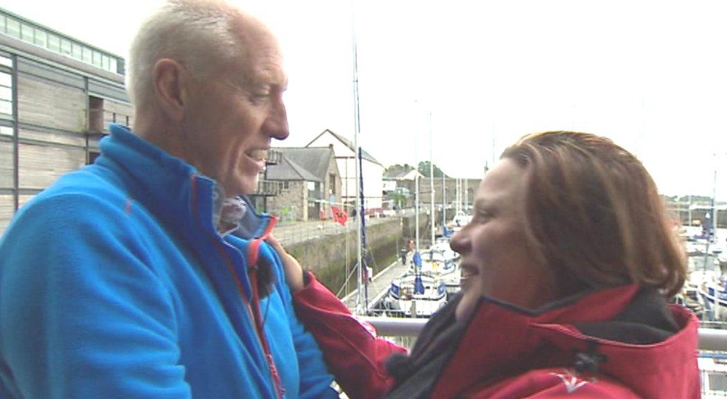 Gwyn Roberts with Malan Wilkinson