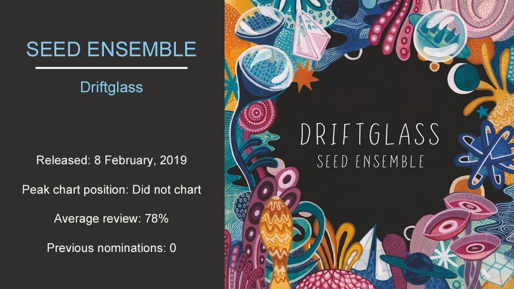 Artwork for Seed Ensemble - Driftglass