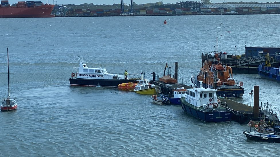 Harwich Ferry being rescued