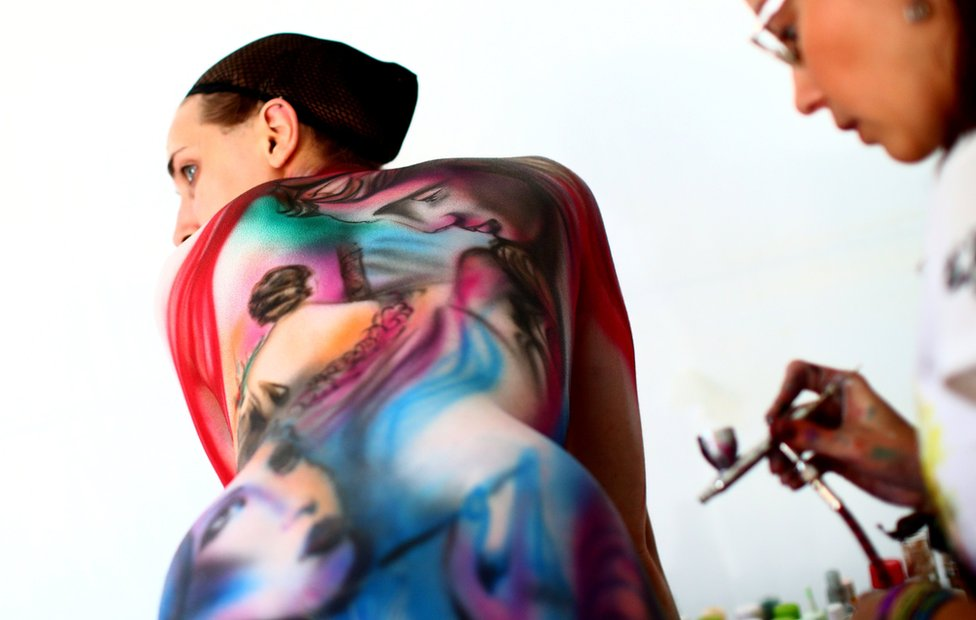 World Bodypainting Festival Models Transformed Into Amazing Artworks Bbc News