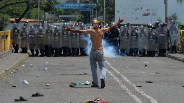 disturbios en Cúcuta