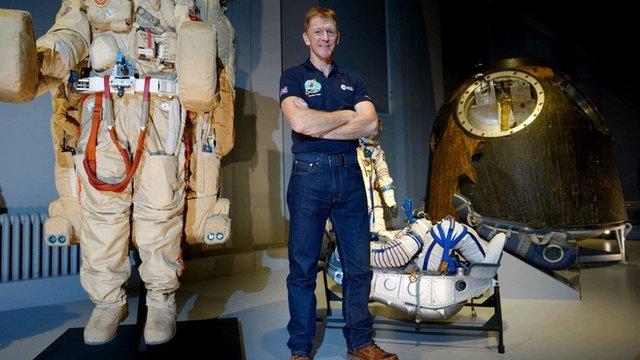 Tim Peake (Centre) during astronaut cave training in 2012