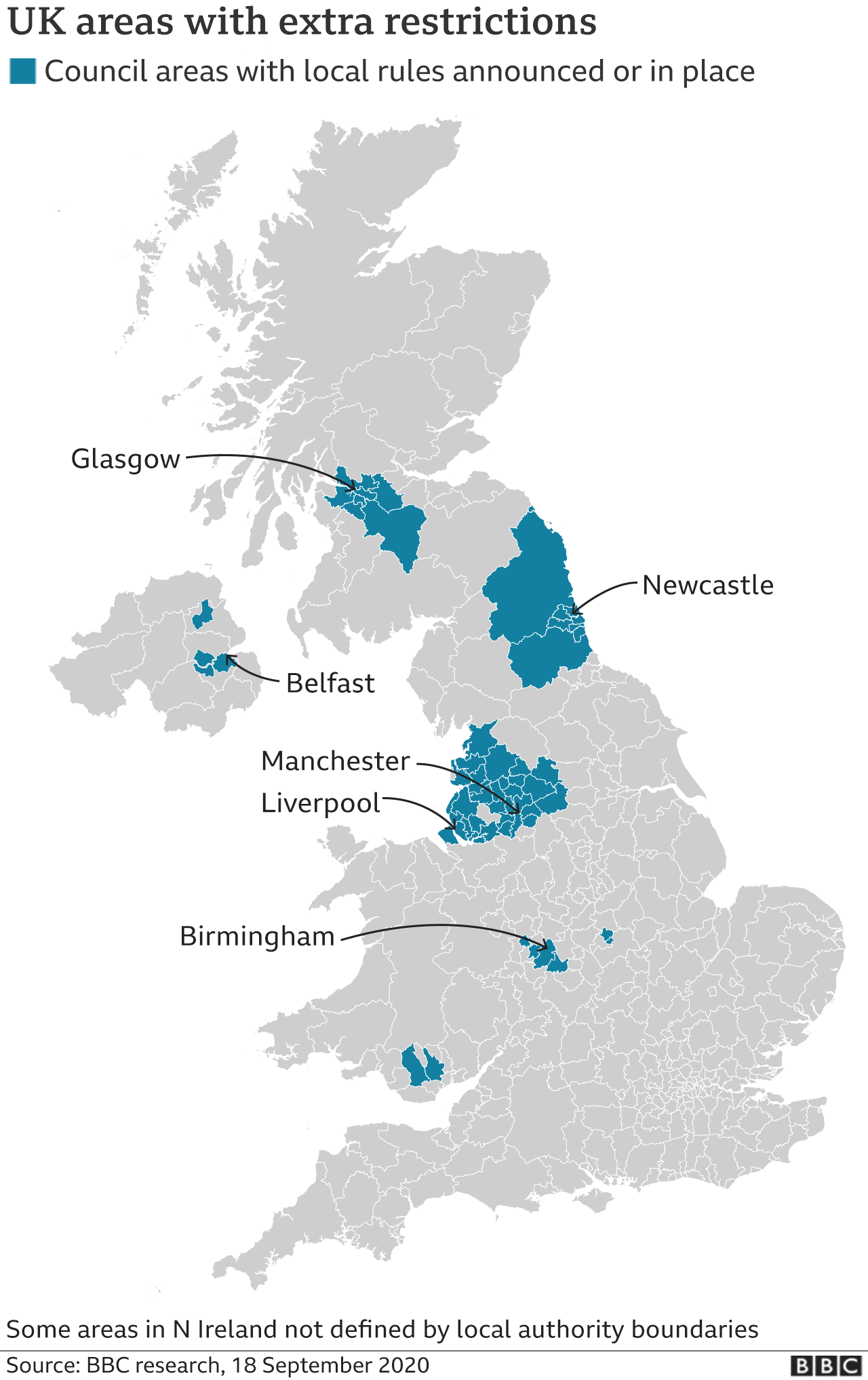 Covid New Restrictions In North West Midlands And West Yorkshire Bbc News