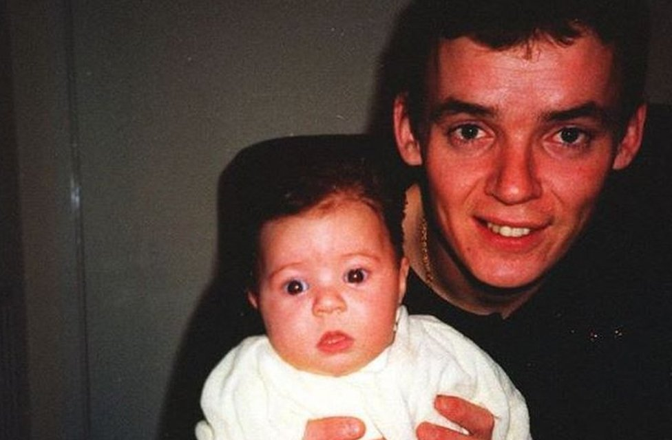 Simon Smith with his baby daughter Lauren