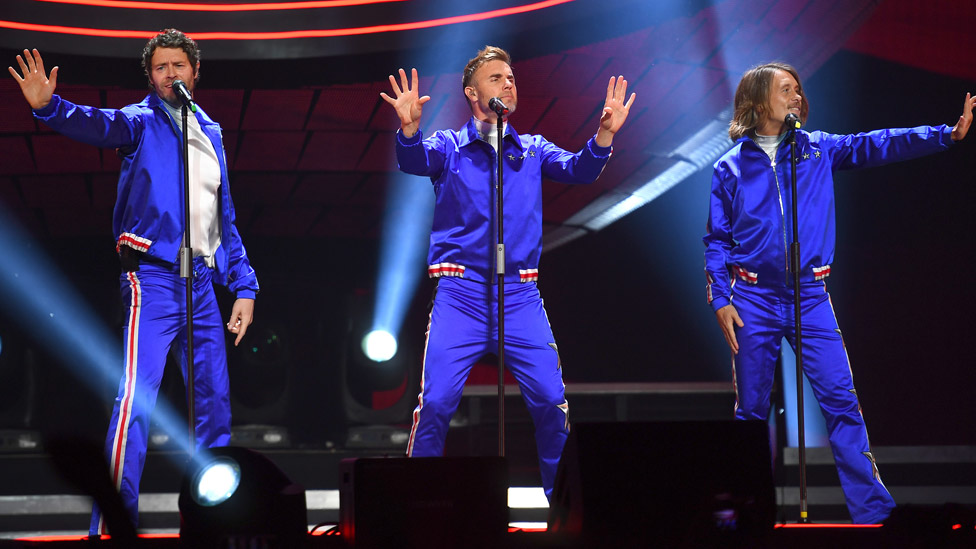 Take That: Howard Donald, Gary Barlow and Mark Owen