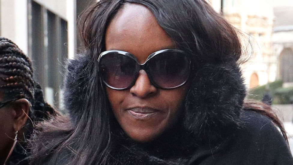Fiona Onasanya arriving at the Old Bailey
