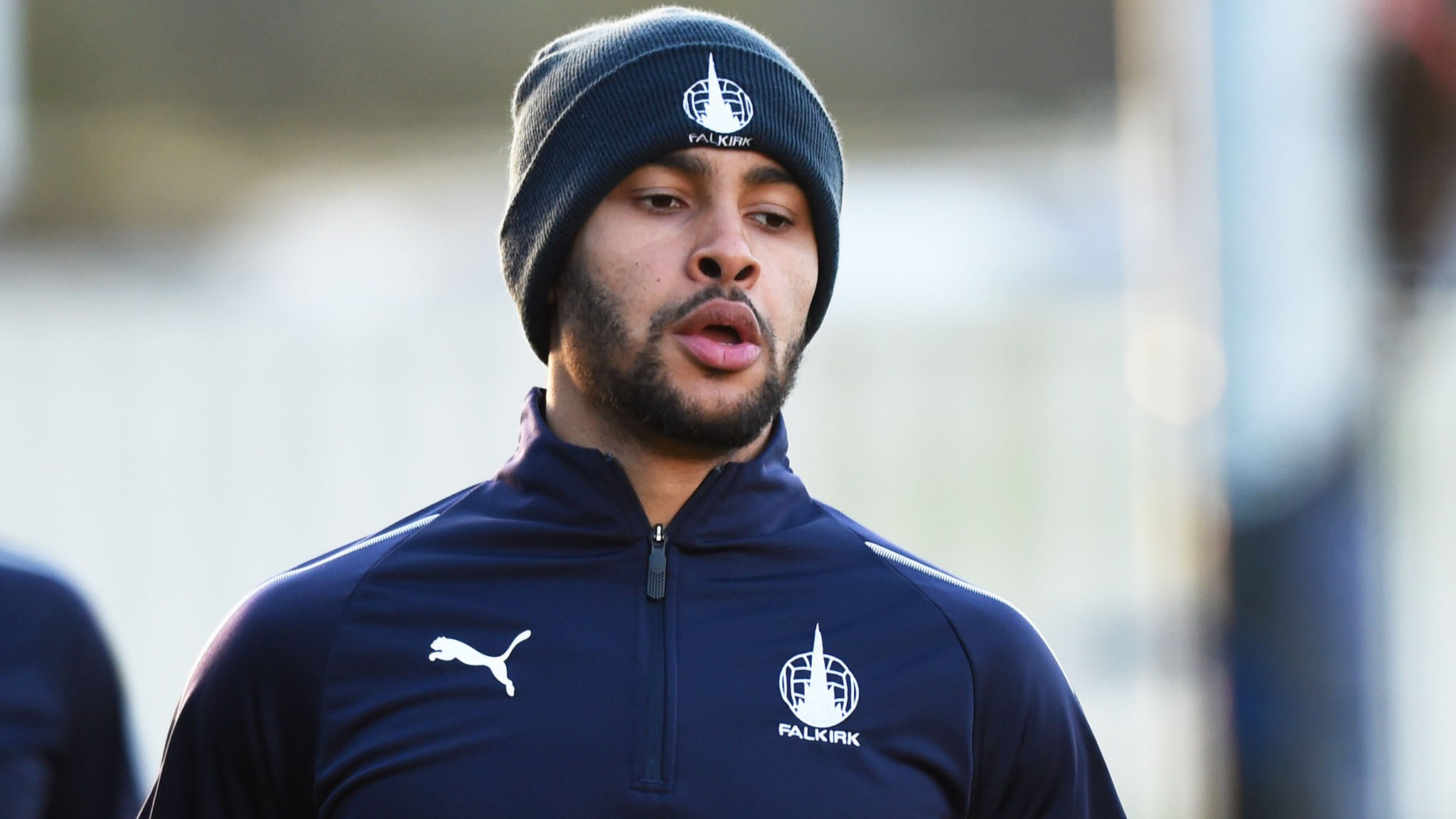 Dennon Lewis: Falkirk fan given police warning for abusing striker