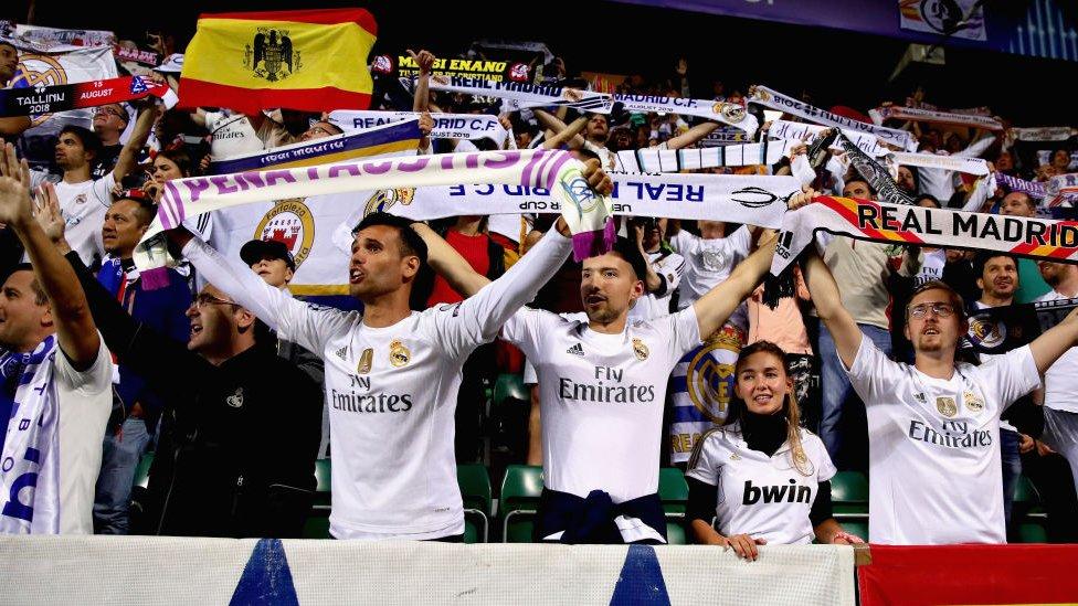 Aficionados del Real Madrid.