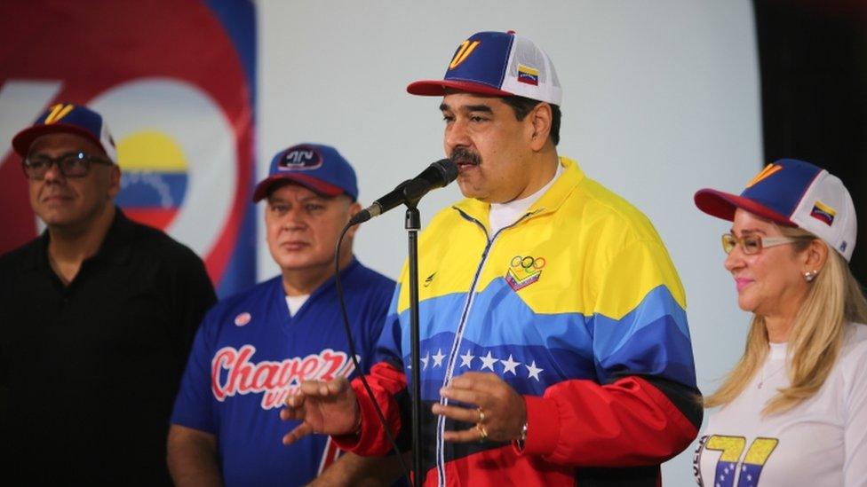 Nicolás Maduro en un acto el 5 de enero.