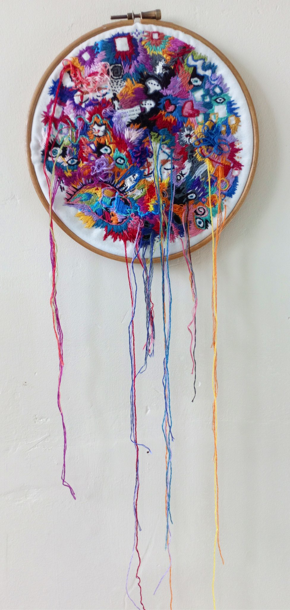 Hand sewn embroidery piece