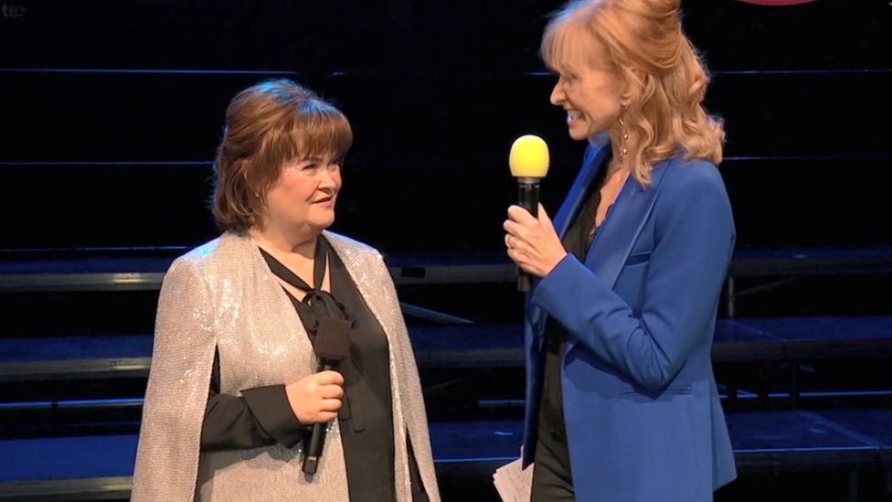 Susan Boyle and Jackie Bird