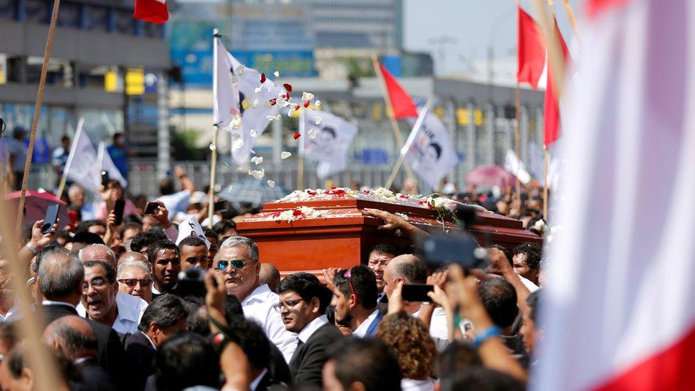 Cortejo fúnebre de Alan García en Lima