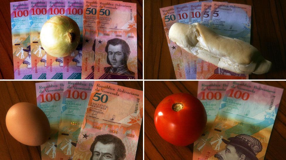 Venezuela'da gıda enflasyonunu gösteren fotoğraf