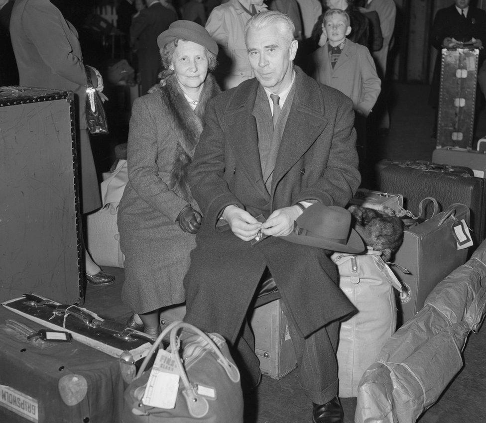 Boris Hagelin y su esposa.