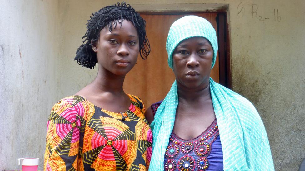 Jamilatu and her mother