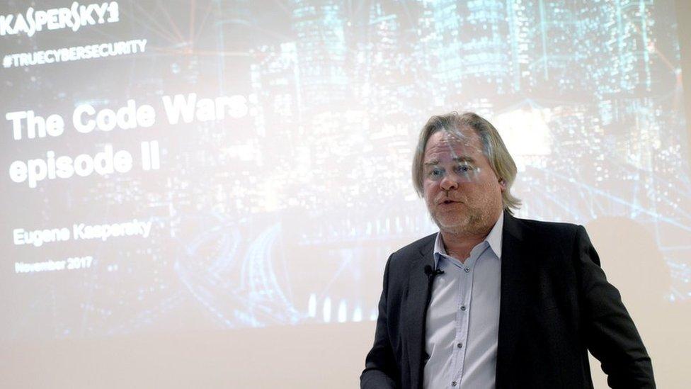 Eugene Kaspersky giving a presentation