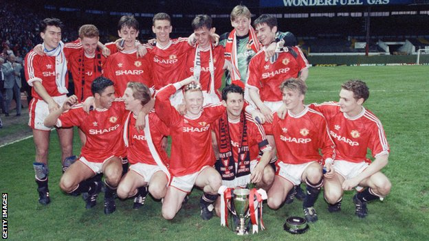 Manchester United's FA Youth Cup team of 1992