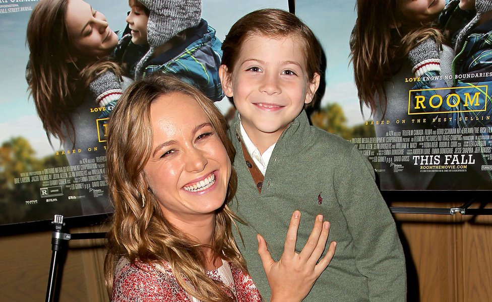 Brie Larson (left) and Jacob Tremblay