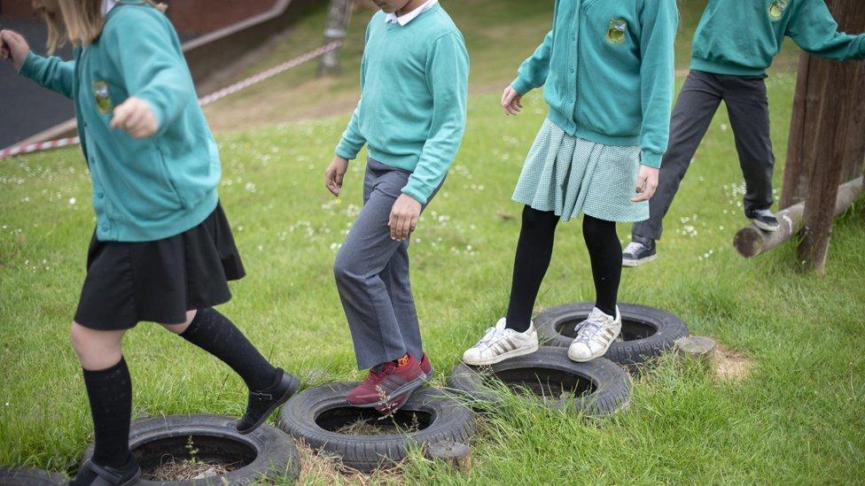 Children at Greenhill School, Wakefield
